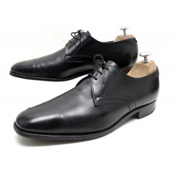 CHAUSSURES CHURCH'S DERBY 3 OEILLETS 9F 43 CUIR NOIR BLACK LEATHER SHOES 620€