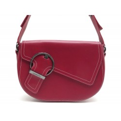 NEUF SAC A MAIN LANCEL EN CUIR ROUGE NEW RED LEATHER SHOULDER HANDBAG 490€