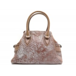 NEUF SAC A MAIN FENDI ETNIKO 8BN157 CUIR BEIGE NEW LEATHER HANDBAG PURSE 1190€