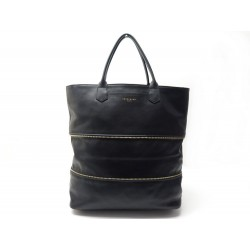SAC A MAIN LONGCHAMP CABAS 2.0 35CM EN CUIR NOIR EXTENSIBLE HAND BAG PURSE 520€