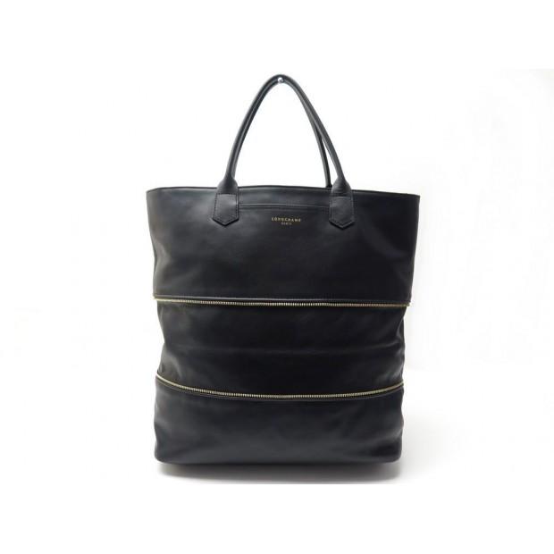 sac a main longchamp cabas 2.0 35cm en cuir noir