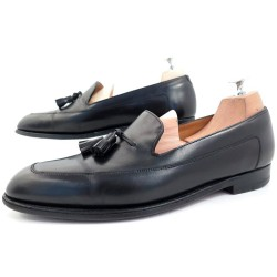 CHAUSSURES JOHN LOBB BUCKINGHAM MOCASSINS 8.5E 43 CUIR NOIR LOAFER SHOES 1055€