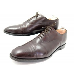 CHAUSSURES CHURCH'S RICHELIEU 9.5F 43 43.5 LARGE CUIR MARRON LEATHER SHOES 590€