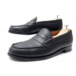 CHAUSSURES JM WESTON MOCASSINS 180 10.5E 45 LARGE CUIR GRAINE NOIR 610€