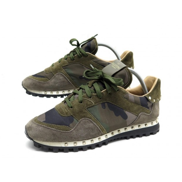 CHAUSSURES VALENTINO BASKETS ROCKRUNNER CAMOUFLAGE 42 42.5 TM952Y0 SNEAKERS 580€