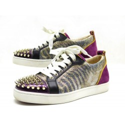 CHAUSSURES CHRISTIAN LOUBOUTIN BASKET LOUIS JUNIOR SPIKES T36