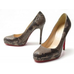 NEUF CHAUSSURES CHRISTIAN LOUBOUTIN NEW SIMPLE ESCARPINS 36.5 CUIR PYTHON 1295€