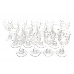 VINTAGE LOT DE 13 VERRES BACCARAT HARFLEUR DE 1942 EN CRISTAL CRYSTAL GLASSES
