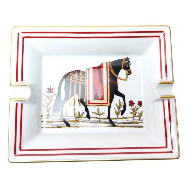 NEUF VIDE POCHE HERMES CENDRIER CHEVAL NOIR PORCELAINE BLACK HORSE ASHTRAY 465€
