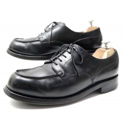 CHAUSSURES JM WESTON DERBIES 641 LE GOLF 8E 42 EN CUIR VEAU NOIR SHOES 710€