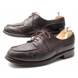 CHAUSSURES JM WESTON DERBIRES 641 LE GOLF 8 E 42 EN CUIR VEAU MARRON SHOES 710€