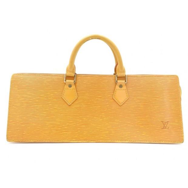 SAC A MAIN LOUIS VUITTON TRIANGLE EN CUIR EPI JAUNE LEATHER HAND BAG PURSE 1750€