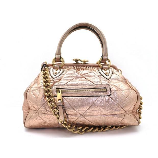 SAC A MAIN MARC JACOBS STAM CUIR DORE CHAINE EPAULE LEATHER HAND BAG PURSE 1065€