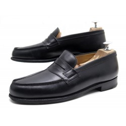 CHAUSSURES JM WESTON MOCASSINS 180 6.5C 40.5 CUIR NOIR BLACK LOAFERS SHOES 610€