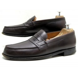CHAUSSURES JM WESTON MOCASSINS 180 6.5C 40.5 EN CUIR MARRON LOAFERS SHOES 610€