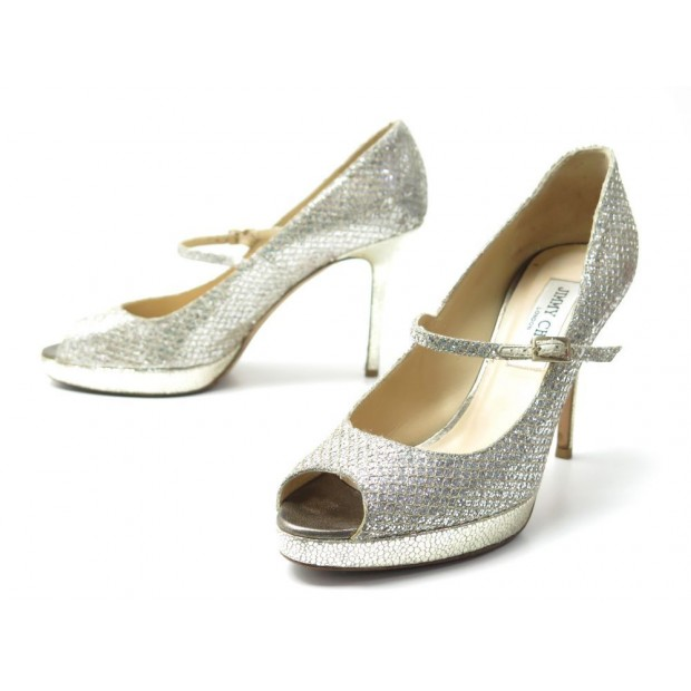 coupe classique fb7b3 8cd8f chaussures jimmy choo escarpins 37.5 it 38.5 fr cuir
