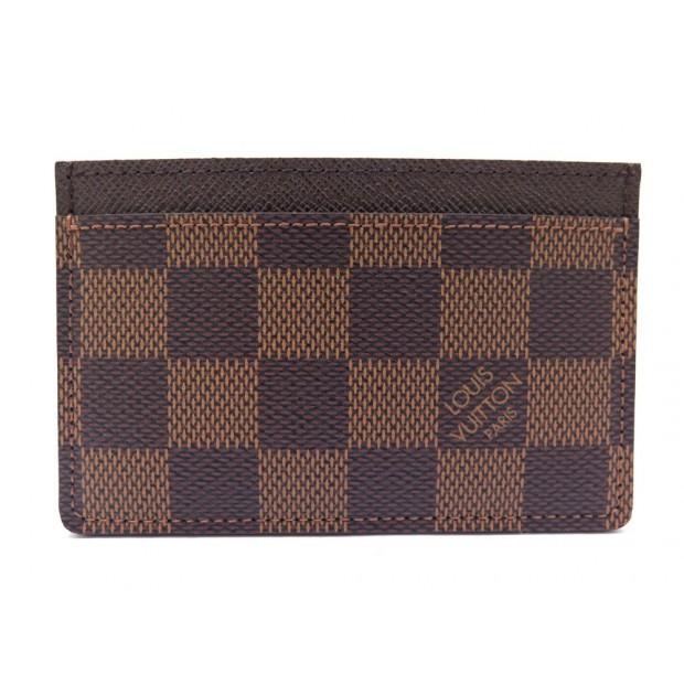 NEUF PORTE CARTE LOUIS VUITTON SIMPLE N61722 TOILE DAMIER EBENE CARD HOLDER 140€