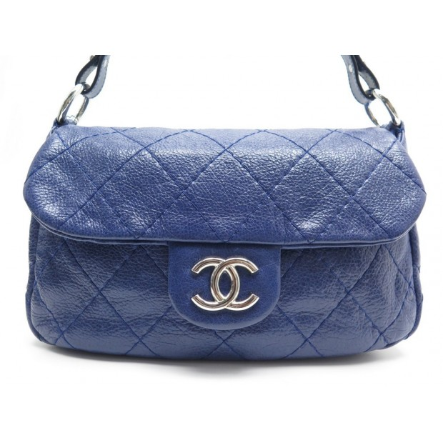 SAC CHANEL TIMELESS CUIR BLEU