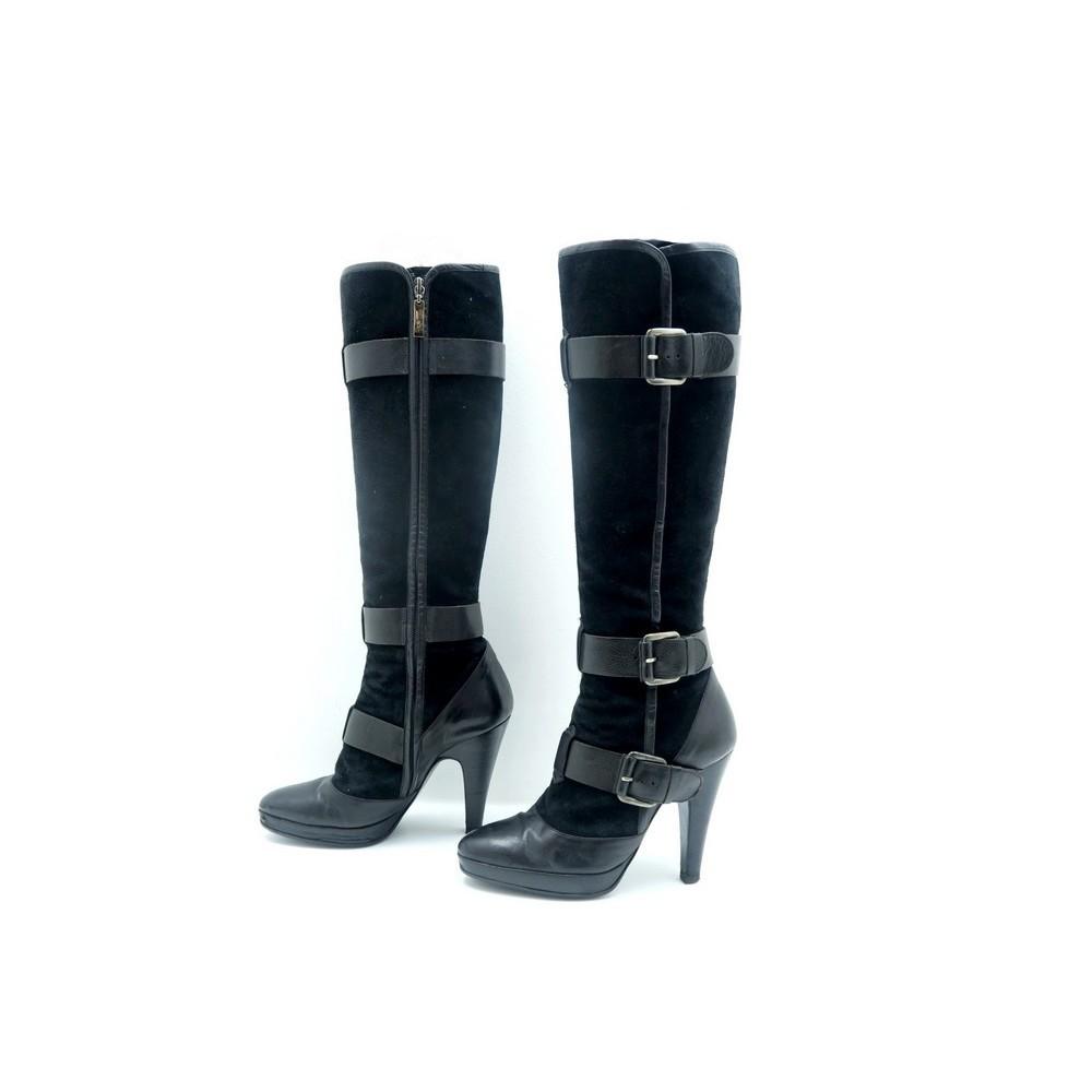 Barbara Daim Bottes Talons 38 Bui Cuir Chaussures A adw0gWaq