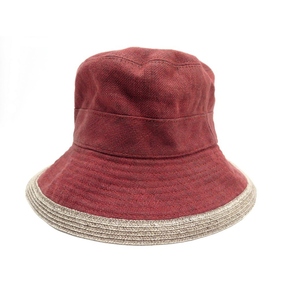 Rouge Taille Bob En Lin Red Hermes 57 Chapeau Beige ZiPXOku