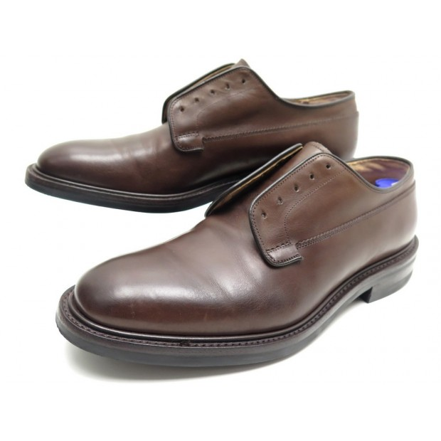 CHAUSSURES CHURCH'S PEAL 9F 43 DERBY EN CUIR MARRON + POCHON LEATHER SHOES 690€