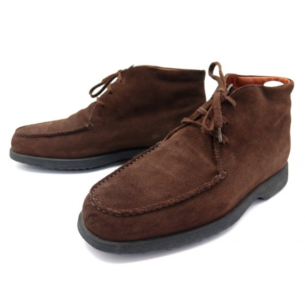 CHAUSSURES TOD'S CHUKKA 8.5 42.5 EN DAIM MARRON BROWN SUEDE BOOTS SHOES 490€