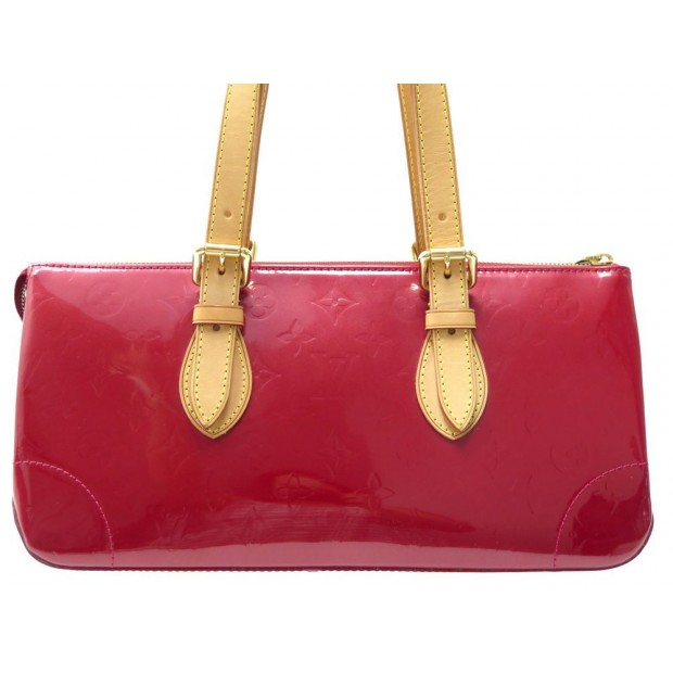 NEUF SAC A MAIN LOUIS VUITTON ROSEMOOD CUIR MONOGRAM VERNIS ROUGE HAND BAG 1150€
