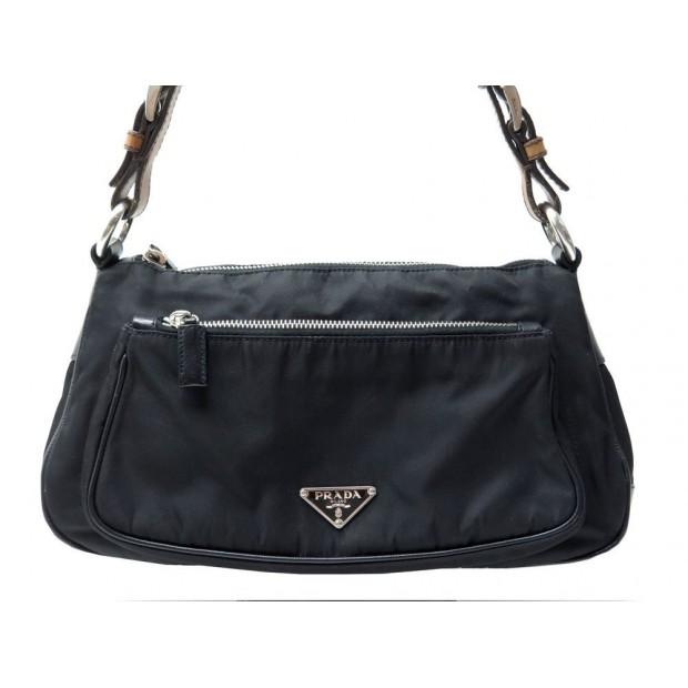 buy cheap for discount hot new products sac a main prada 30 cm porte epaule en toile cuir