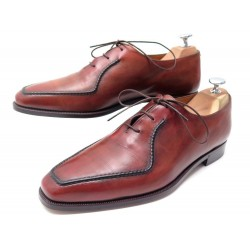 CHAUSSURES BERLUTI RICHELIEU 8 42 EN CUIR PATINE CICATRICES SCARS SHOES 1580€