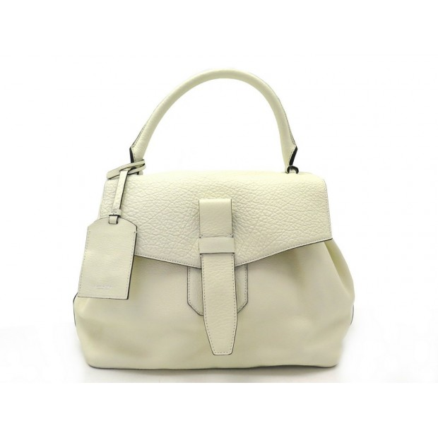 NEUF SAC A MAIN LANCEL CHARLIE MM A06837 EN CUIR ECRU BLANC LEATHER BAG 1290€
