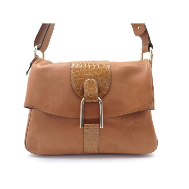 SAC A MAIN DELVAUX GIVRY EN CUIR CAMEL BROWN LEATHER SHOULDER HAND BAG 2675€