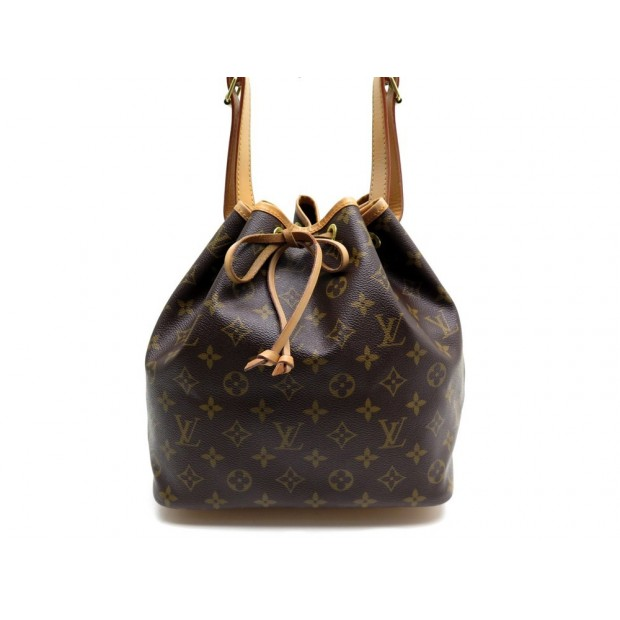 SAC A MAIN LOUIS VUITTON PETIT NOE NM M4226 SEAU TOILE MONOGRAM MARRON BAG 940€