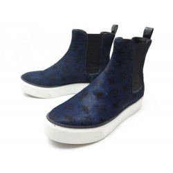 BOTTINES LOUIS VUITTON MOONWALK BOOT POULAIN MONOGRAM