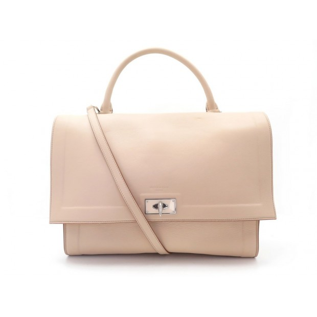 NEUF SAC A MAIN GIVENCHY SHARK TOOTH MM SATCHEL BANDOULIERE CUIR ROSE BAG 1035€
