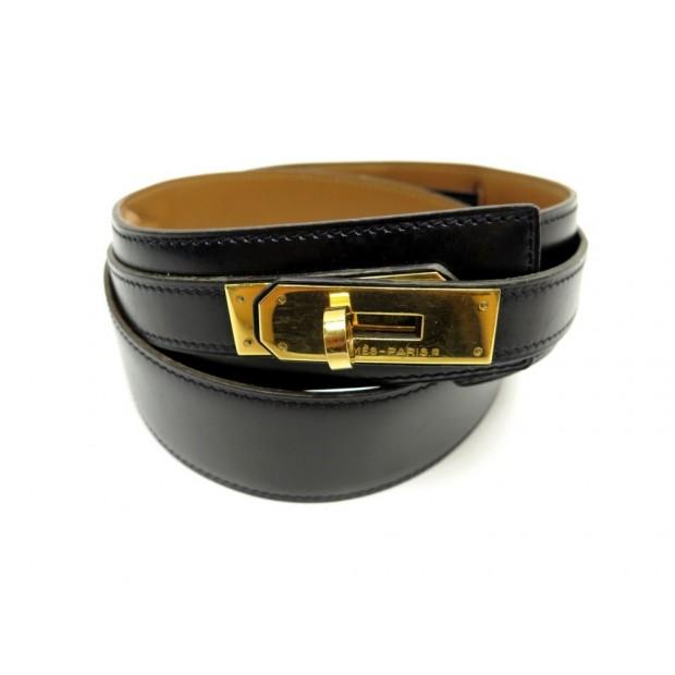 ceinture hermes kelly t 78 en cuir box noir 77b648417df