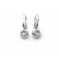NEUF BOUCLES D OREILLE CHOPARD MISS HAPPY 839011 OR BLANC DIAMANT EARRINGS 2090€