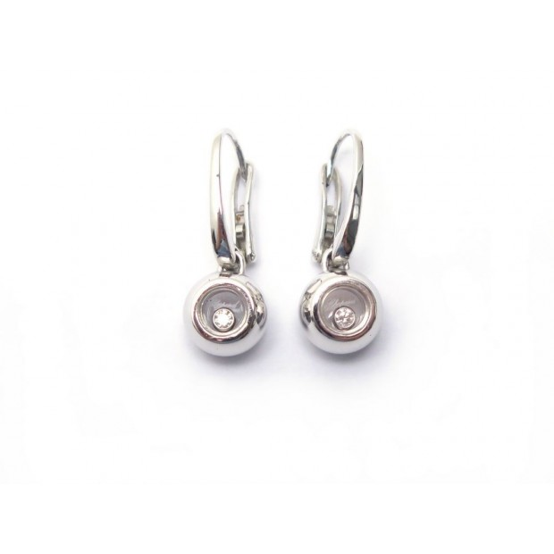 BOUCLES D OREILLE CHOPARD HAPPY DIAMOND DIAMANT