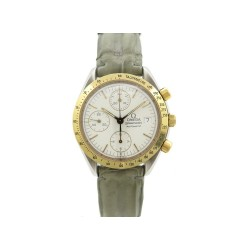 MONTRE OMEGA SPEEDMASTER OR JAUNE ET ACIER AUTOMATIQUE CHRONOGRAPHE WATCH 5800€