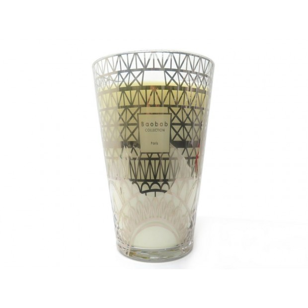 NEUF BOUGIE BAOBAB MAXI MAX EDITION LIMITEE EN VERRE DORE NEW GOLDEN CANDLE 510€