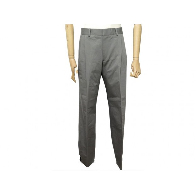 NEUF PANTALON HERMES 42 L EN COTON GRIS HOMME GREY COTTON TROUSERS PANTS 540€
