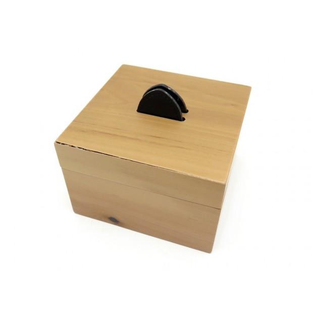 VINTAGE PETITE BOITE HERMES EN BOIS MARRON 6.5 X 10 CM BROWN WOOD BOX