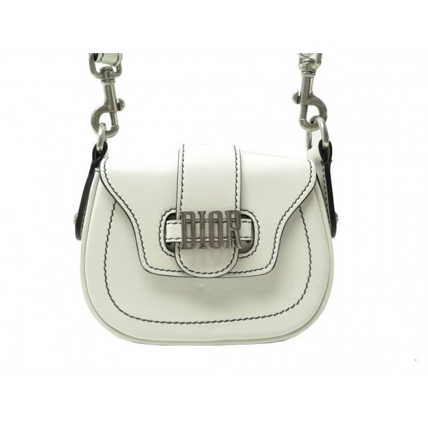 SAC A MAIN DIOR MINI D FENCE CUIR CREME BANDOULIERE LEATHER HAND BAG PURSE 2400€
