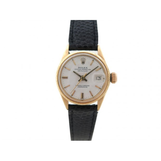 VINTAGE MONTRE ROLEX 6701 OYSTER PERPETUAL DATEJUST LADY OR JAUNE 24 MM WATCH