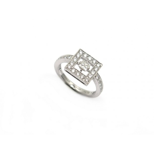 BAGUE BOUCHERON AVA CARRE T51 OR BLANC 35 DIAMANTS 0.58CT DIAMONDS RING 8100€
