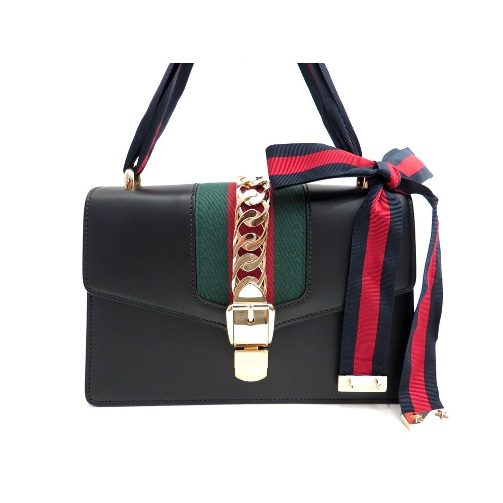 463e3e1f5b939c NEUF SAC A MAIN GUCCI SYLVIE 421882 CABAS EN CUIR TOILE WEB HAND BAG PURSE  1980. Loading zoom