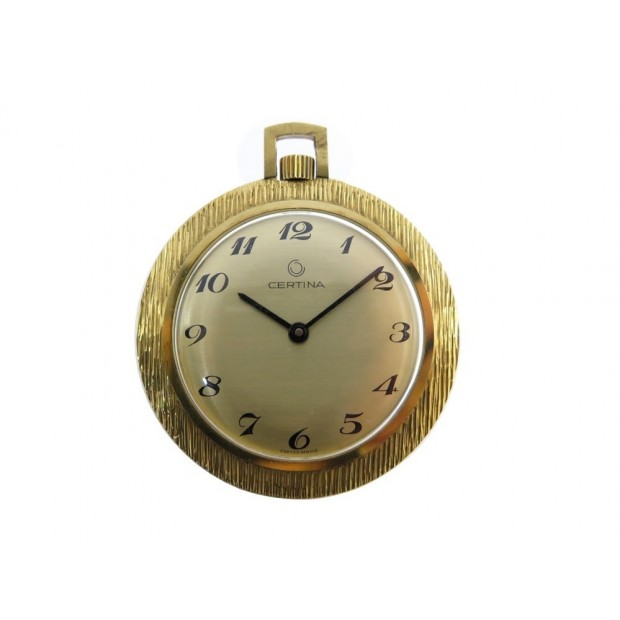 VINTAGE MONTRE GOUSSET CERTINA MECANIQUE OR JAUNE 18K 25.3 GR GOLD POCKET WATCH