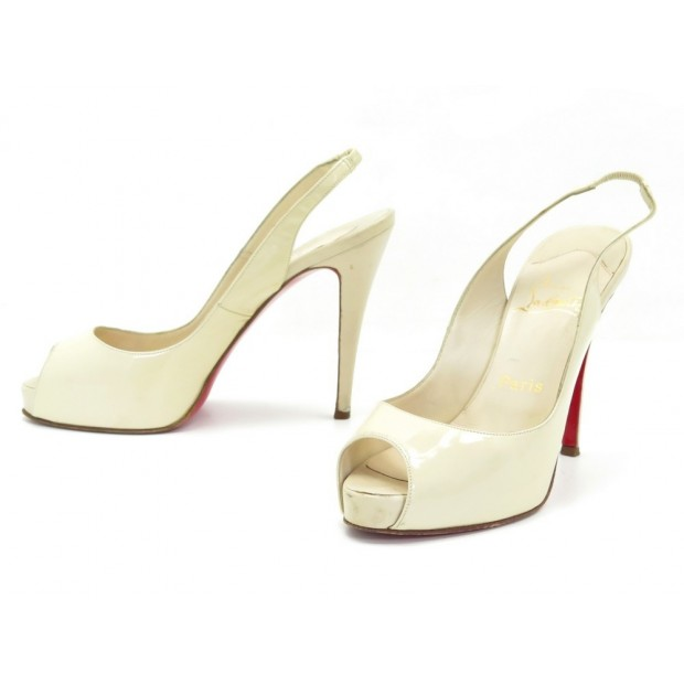 CHAUSSURES CHRISTIAN LOUBOUTIN PRIVATE NUMBER SANDALES 38.5 EN CUIR SHOES 645€