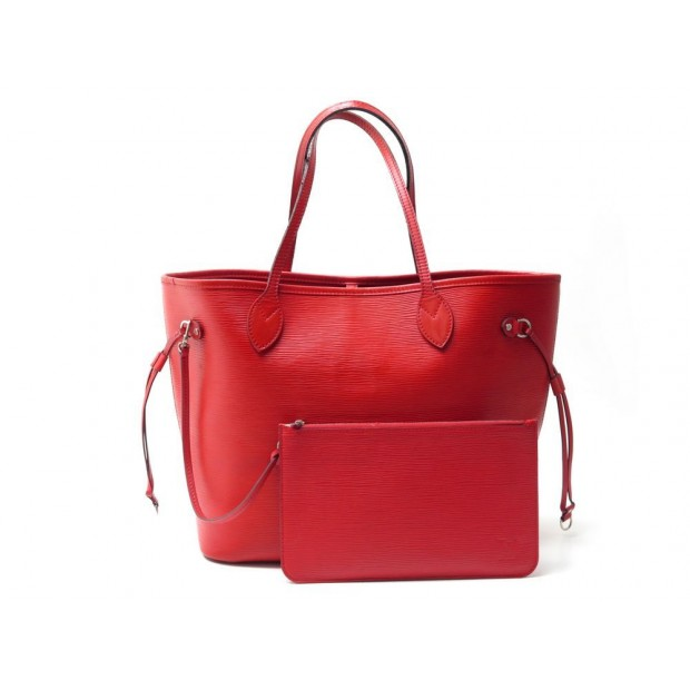 SAC A MAIN LOUIS VUITTON NEVERFULL MM CUIR EPI COQUELICOT CABAS LV HANDBAG 1520€