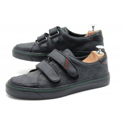 CHAUSSURES GUCCI BASKETS 170574 6.5 IT 41.5 FR TOILE MONOGRAMME GG SNEAKERS 470€