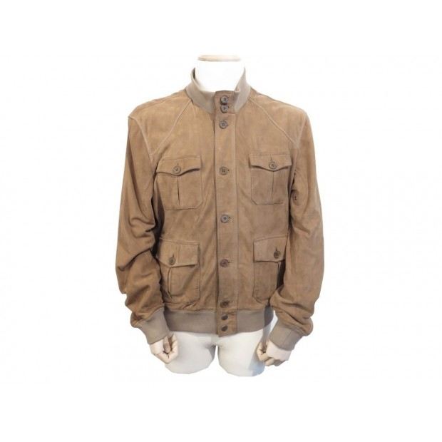 VESTE MARLBORO CLASSIC HOMME XL 56 58 EN DAIM MARRON BROWN DEER JACKET 300€